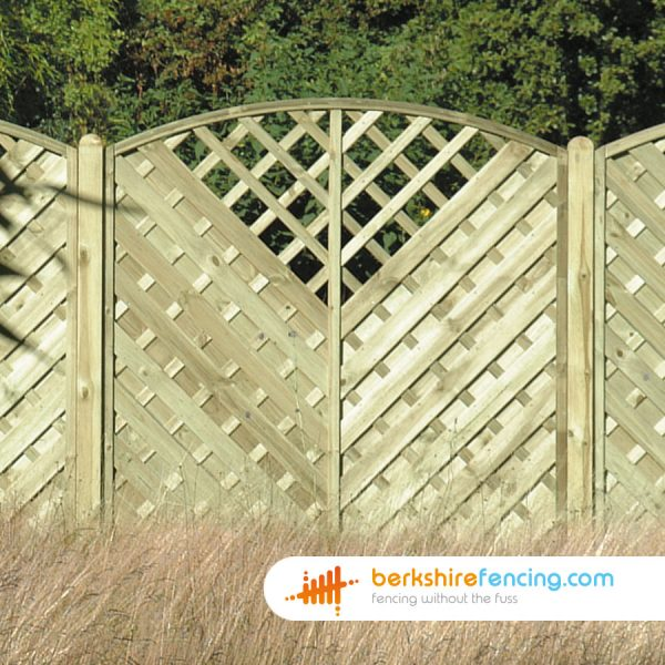 heavy duty V Arched Window Top Fence Panels