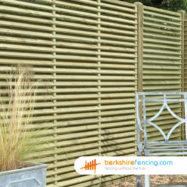 Venetian Lattice Top Fence Panel (4) 90cm H x 180cm W brown