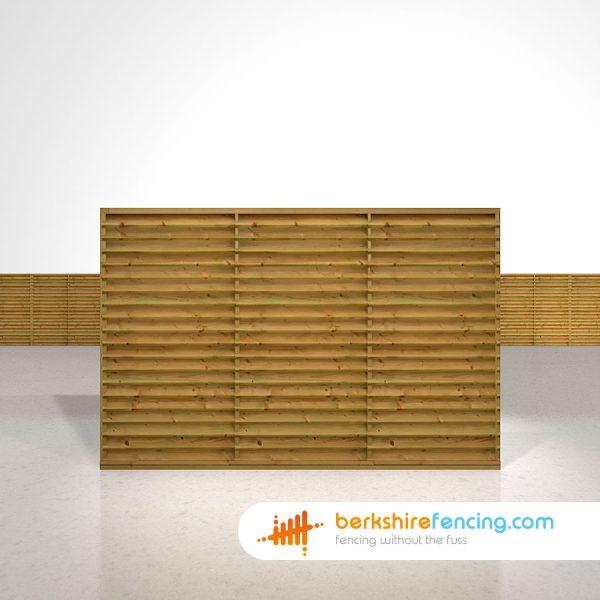 Designer Venetian Lattice Top Fence Panels 4ft x 6ft brown