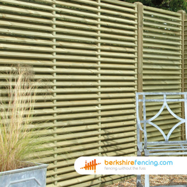 brown Venetian Lattice Top Fence Panel 3ft x 6ft