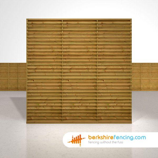 Exclusive Venetian Lattice Top Fence Panels 6ft x 6ft brown