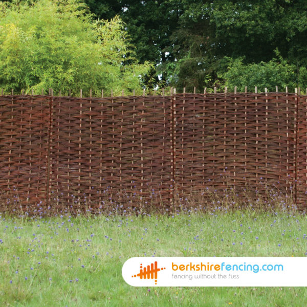 Willow Hurdles Fence Panel (5) 90cm H x 183cm W natural