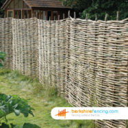 Willow Hurdles Fence Panel (1) 90cm H x 183cm W Natural