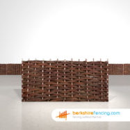 Designer Willow Hurdles Fence Panels 3ft x 6ft natural
