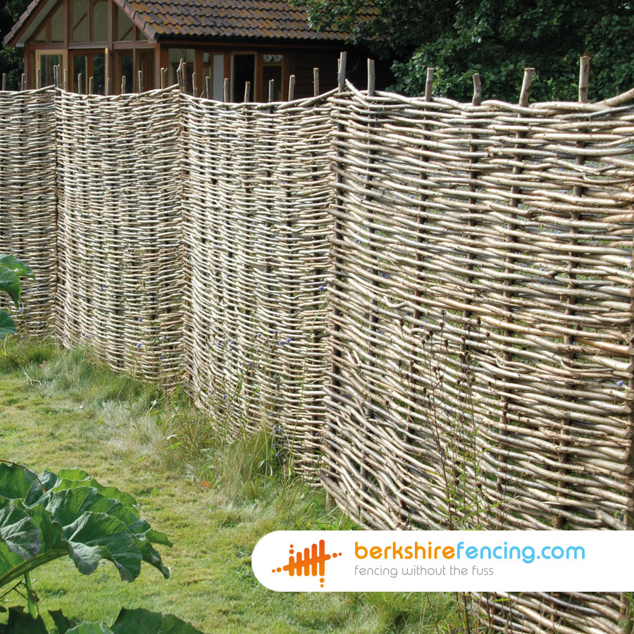 Willow Hurdles Fence Panel 1 90cm H X 183cm W Natural