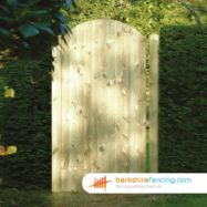 Arched Top Tongue and Groove Panelled Gates (1) 1800mm x 900mm x 50mm brown