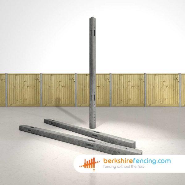 Exclusive Concrete Morticed Corner Fence Posts 100mm x 100mm x 2400mm Grey