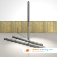 Concrete Morticed Corner Fence Posts 270cm x 10cm x 10cm Grey