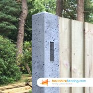Concrete Morticed Corner Fence Post (3) 100mm x 100mm x 1800mm Grey