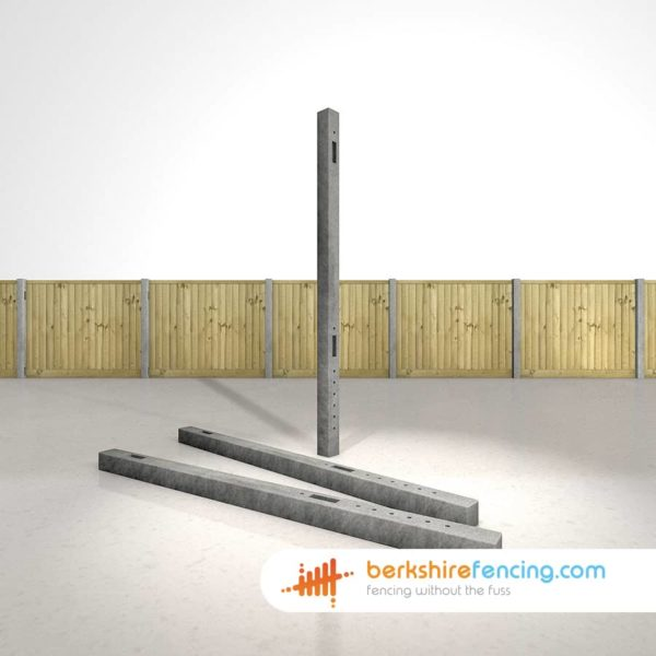 Exclusive Concrete Morticed Intermediate Fence Posts 100mm x 100mm x 2100mm Grey