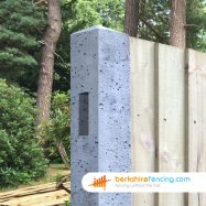 Concrete Morticed Intermediate Fence Post (3) 100mm x 100mm x 1800mm Grey