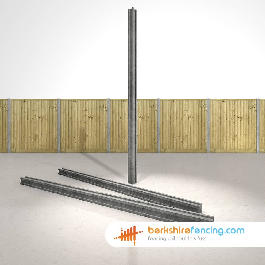 Concrete Slotted Corner Fence Posts 100mm X 100mm X 1800mm