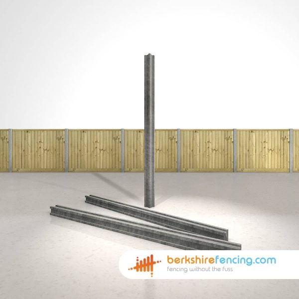 Exclusive Concrete Slotted Corner Fence Posts 100mm x 100mm x 2400mm Grey