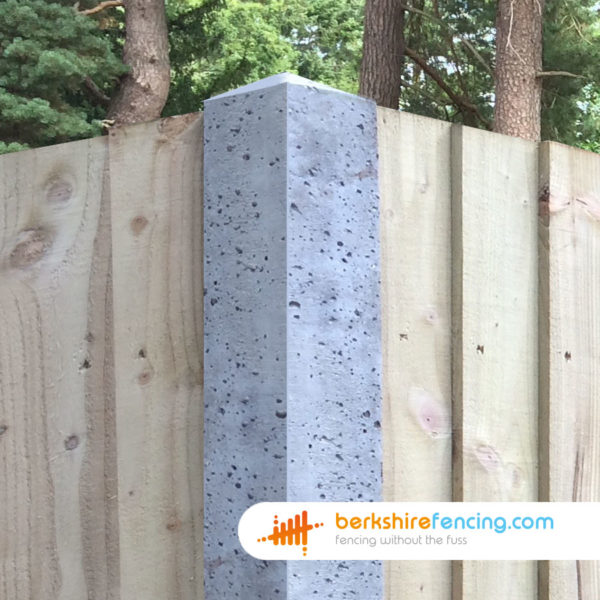 100mm x 100mm x 1800mm Concrete Slotted Corner Fence Post Built in Concrete for a customer in Ascot