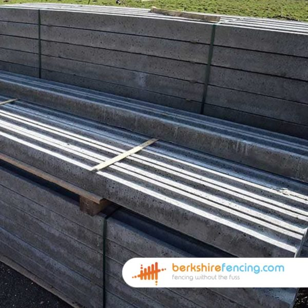 Concrete Concrete Slotted Intermediate Fence Posts 100mm x 100mm x 1800mm - Grey