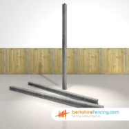 Garden Concrete Slotted Intermediate Fence Posts 100mm x 100mm x 2700mm Grey