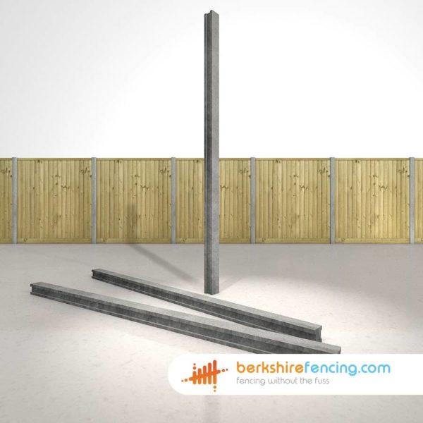 Some Concrete Slotted Intermediate Fence Post supplied in Andover by Berkshire Fencing