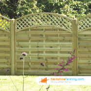 Convex Arched Lattice Top Fence Panels