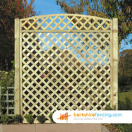 Convex Heavy Diamond Trellis Fence Panels