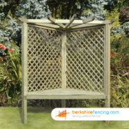 Corner Arbour (3) 750mm x 1500mm x 2200mm natural
