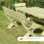 Country Style Bench (3) 1800mm x 900mm x 700mm natural