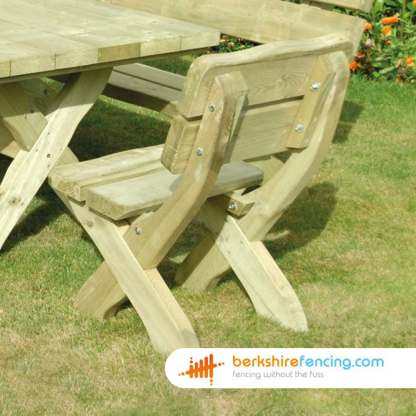 How our Country Style Chair look in a lovelly garden in Wokingham