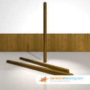 Garden Decorative Wooden Fence Posts 100mm x 100mm x 2700mm brown