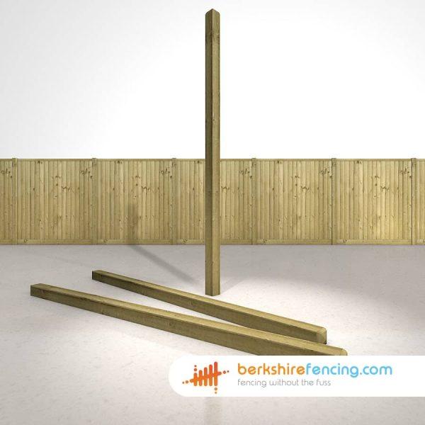 Decorative Wooden Fence Posts 270cm x 10cm x 10cm natural