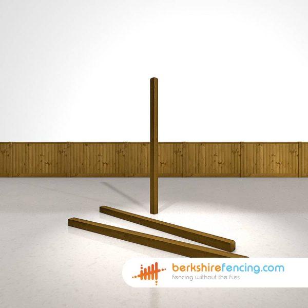 Designer Decorative Wooden Fence Posts 90mm x 90mm x 1800mm brown