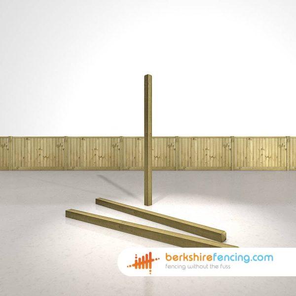 Garden Decorative Wooden Fence Posts 90mm x 90mm x 1800mm natural