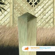 Decorative Wooden Fence Post (3) 90mm x 90mm x 2400mm brown