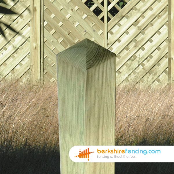 An Example of our Decorative Wooden Fence Post in London