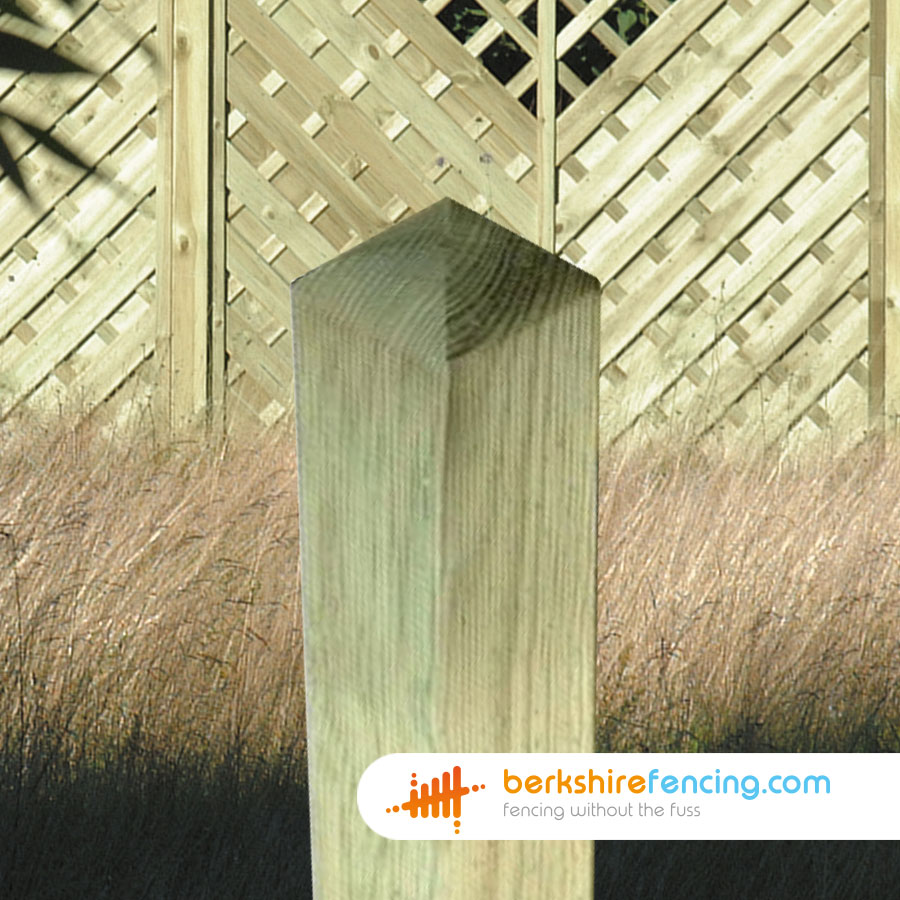 Decorative Wooden Fence Posts 90mm X 2400mm Brown
