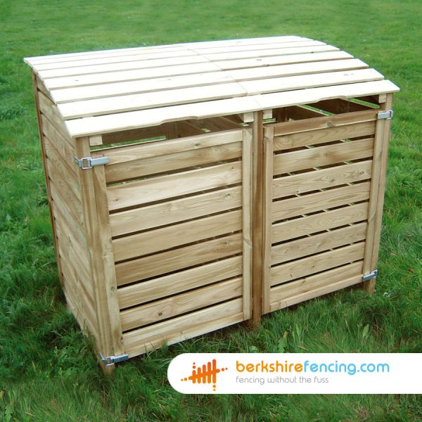 125cm x 86cm x 145cm Dustbin Cover Built in UC4 Treated Wood for a customer in Eton