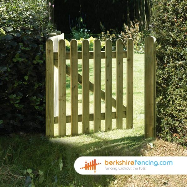 heavy duty Elite Round Top Picket Gate 900mm x 900mm x 50mm