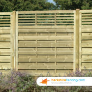 Elite Slatted Top Fence Panels