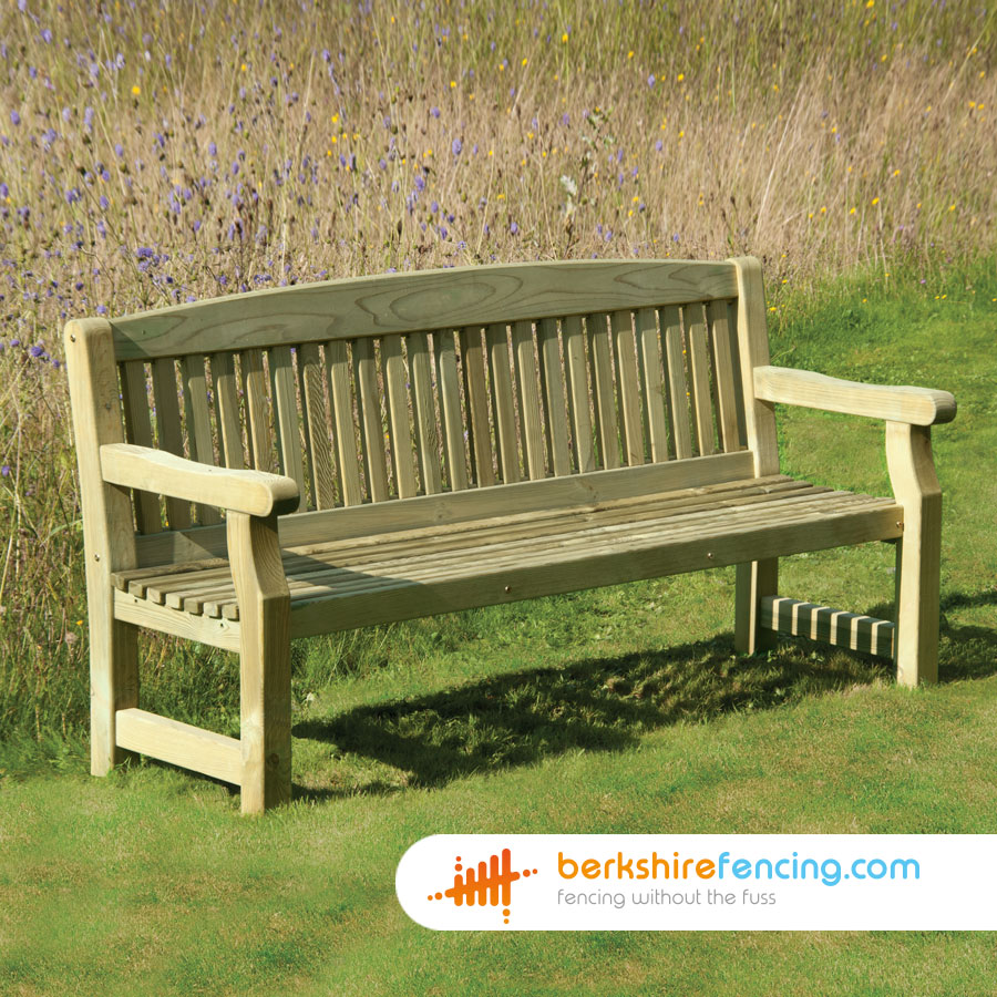 Garden Bench 500mm X 1500mm X 900mm Natural Berkshire Fencing