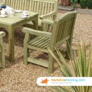 Garden Carver Seat (3) 500mm x 500mm x 700mm natural