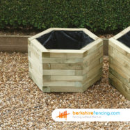 Hexagonal Planter (3) 650mm x 650mm x 390mm natural