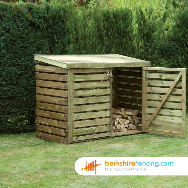 Some Log Store with Doors supplied in Crowthorne by Berkshire Fencing