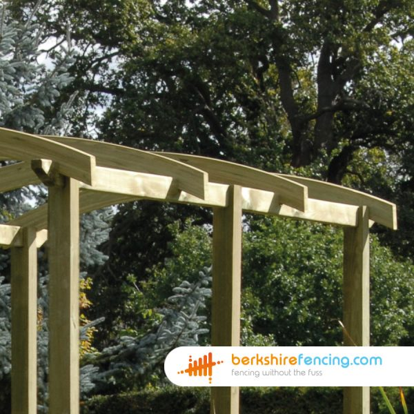 An Example of our Pergola Angled Rail in Earley