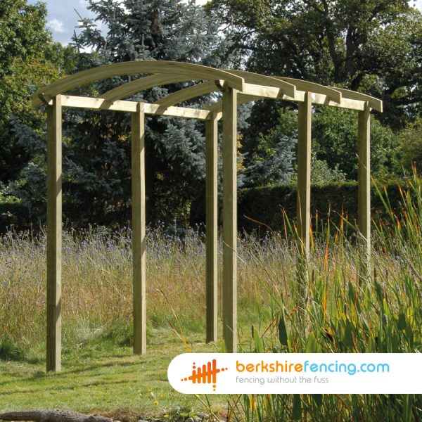 50mm x 1800mm x 100mm Pergola Arch Constructed in Wood for a customer in Earley