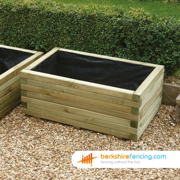 Some Rectangular Planter supplied in Hungerford by Berkshire Fencing