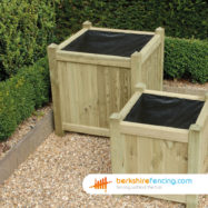 Square Planter (3) 650mm x 650mm x 650mm natural
