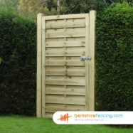 Square Top Horizontal Panelled Gates (1) 1800mm x 900mm x 50mm brown