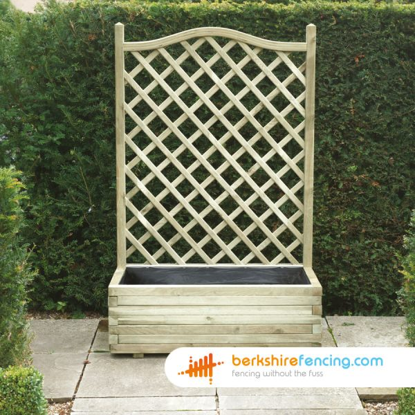 1000mm x 500mm x 1530mm Trellis Planter Manufactured in Solid Timber for a customer in Eton