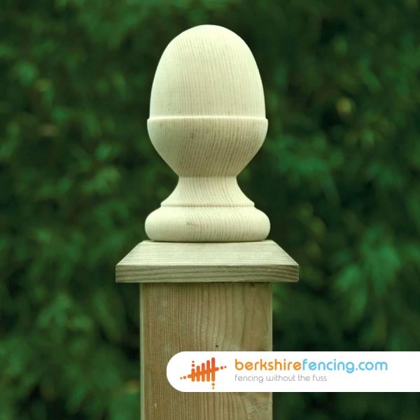 An Example of our Wooden Fence Post Acorn Cap in Ascot