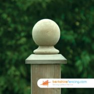 Wooden Fence Post Ball Cap (3) 100mm x 100mm x 125mm brown
