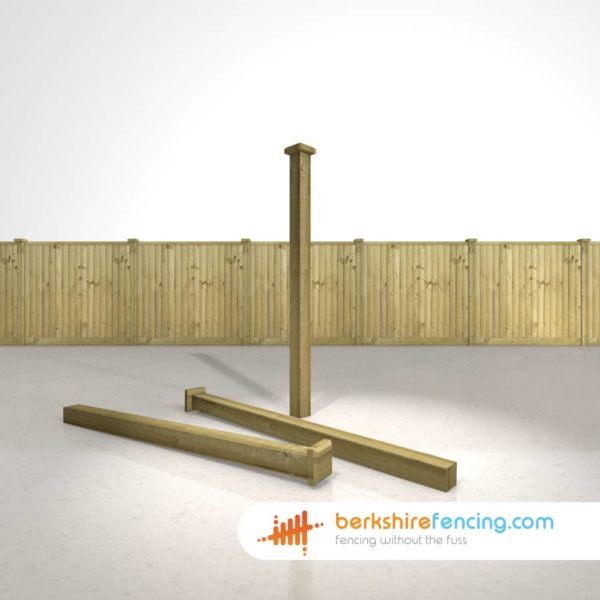 Exclusive Wooden Fence Post Bevelled Cap 120mm x 120mm x 25mm natural