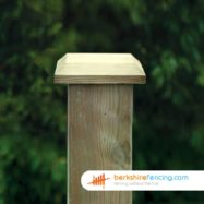 Wooden Fence Post Bevelled Cap (3) 120mm x 120mm x 25mm brown